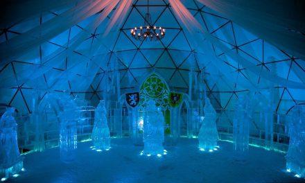 Ledový chrám ve Špindlerově Mlýně