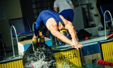 Závody v plavání v plaveckém stadionu Slavia