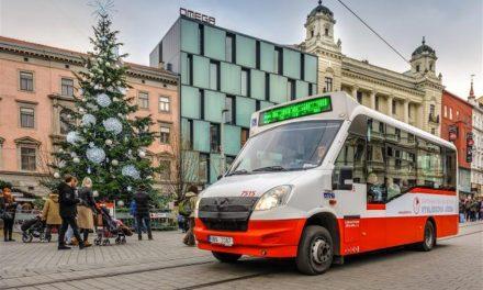 Vyhlídkové jízdy brněnským minibusem v adventním období