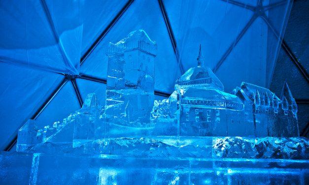 Špindlerovské ledárium 2017/2018 – ledový chrám ve Špindlerově Mlýně