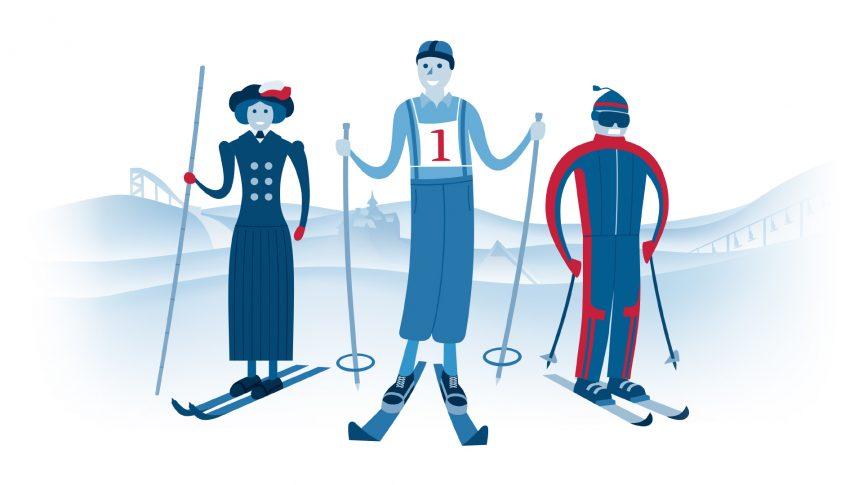 Století na lyžích: Lyžařská móda a výbava v minulém století