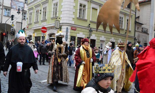 Průvod Tří králů v Praze 2018